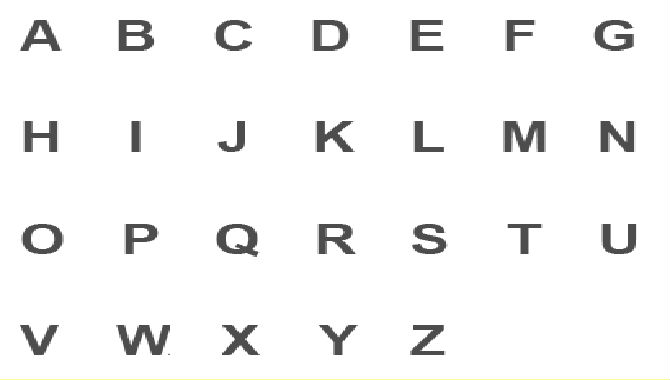How to write letters of the alphabet in standard english
